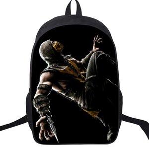 Diseñador-Escorpión En Mortal Kombat X Máscara Bolsas Escuela 16 pulgadas Estudiantes Niños Niñas Escuela Mochila Mochila recorrido de los niños regalo