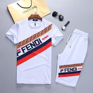 Nova verão sportswear dos homens em torno do pescoço zip completo de mangas curtas jogging terno sportswear dos homens de roupas e calças hoodies e M-3XL