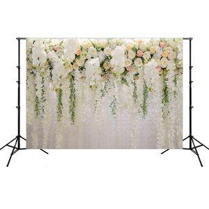 Telón de fondo 3D Rose del paño partido de la decoración de la boda Fondo fotografía apoya simulado de tela para la boda Estudio HHA1044