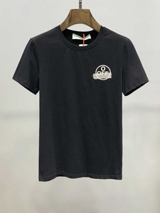 2020 Sommer-Mann Freizeit Neues Muster Baumwolle und Leinen Kurzarm T-Shirt Wild Goose Stickerei Thin Tide Male T-Shirts 11286
