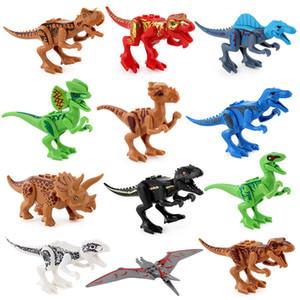 Block Puzzle Jurassic Dinosaurier ABS Minifigur Sammlermodell Einzelhandel Actionfiguren Überraschungspuppe DIY Spiel Bricks Blocks Minifigur