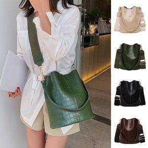 Crocodile Pattern Crossbody Bag For Women Shoulder Bag Designer Mulheres Sacos PU Leather Bucket Handbag Am4179
