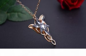 Lord of the Rings Lord of the Rings elves dusk necklace twilight star male ladies pendant WFN419 (with chain) mix order 20 pieces a lot