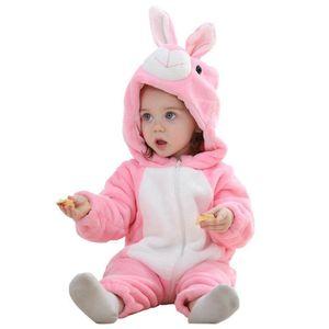 لطيف للجنسين الطفل بذلة زيبر عادية لينة قطعة واحدة طفل الدافئة الرضع الكرتون