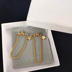 Европейская и американская мода личность письмо звезда один бриллиант дизайнерские серьги роскошные дизайнерские ювелирные изделия женские серьги