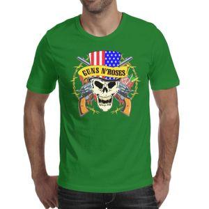 Guns N'Rose Skull American Flag зеленая футболка, футболки, футболки, майки дизайн футболки забавный винтаж сделай сумасшедшую группу классической футболкой