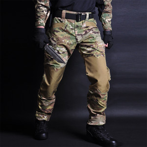 HAN WILD Tactical Pants Camouflage Military Cargo Sweatpants tactical pants military Camo Casual Trousers Pantalones Tacticos