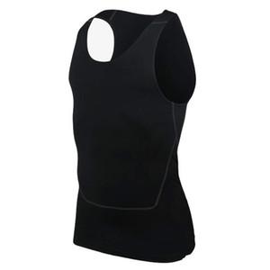 Мода Мужчины Сжатия Дышащий Жилет Рубашки Базовая Линия Черный Белый тренировки Фитнес Без Рукавов Рубашки Бодибилдинг Майки S-2XL
