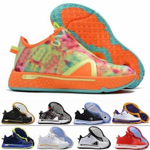 2020 고품질 새로운 PG 사 게토레이 NASA 폴 조지 농구 신발 정 IV 줌 GX 블랙 화이트 남성 디자이너 트레이너 스포츠 스니커즈