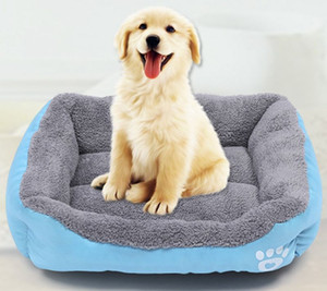 Dog Pet Bed PP Cat Cotton Stuffed Small Dog Kennel filhote de cachorro macio Cama inverno quente Pet Cushion Pet Casas Suprimentos 22 Designs LQPYW959