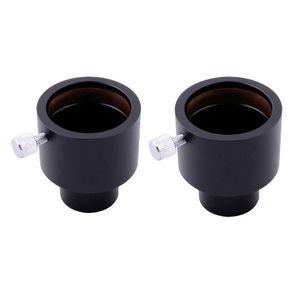 """2pcs LAIDA 23.2mm à 1.25 """"1.25 inch Adaptateur Adaptateur pour oculaire de microscope à télescope M0036EX2"""