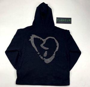 NOUVEAU Designer xxxtentacion REVENGE Red Diamond Hoodie Imprimé Hip Hop Sweats à capuche Sweats à capuche Casual High Street Pull