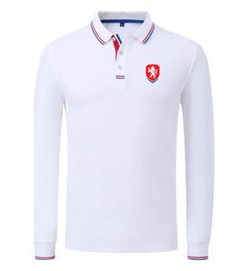 Çek Cumhuriyeti 2020 İlkbahar ve Sonbahar Yeni Pamuk Futbol Polo Gömlek Erkek Uzun Kol Yaka Katı Renk Polo Can DIY özelleştirme Erkekler Polo