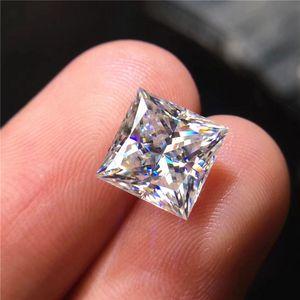 bateau libre 0.08CT à la princesse 6CT coupe forme carrée réelle couleur D FL moissanite diamant lâche excellente coupe jamais fondu test de pierre positif