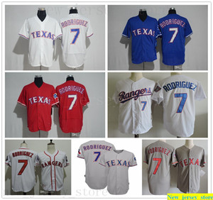 2017 Hall of Fame Vintage Baseball 7 Ivan 'Pudge' Rodriguez Jersey Mens Donna Bambini cucite Camicie a maglia Rangers Ivan Rodriguez Jersey