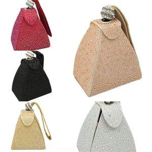 FGG totes Evening gown Hand hot Diamond evening dinner Triangle Women's pyramid Hand bag dinner bag