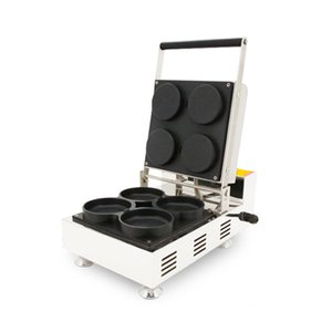 110v 220v antiadhésif Mini Pizza Gaufrier électrique ronde Rempli Savory Pizza Waffle Four Machine fer Baker Faire Pan