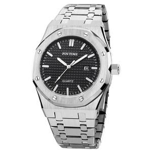 Großhandelsqualitäts-Mens Fashion Armbanduhr Armbanduhr 41mm gebürstet Lünette Mens-Quarz-Sport-Uhr-Auto-Date Designer Uhren