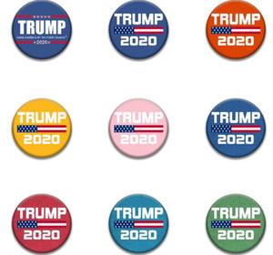 16Sstyles 2020 Trump Banner Rozet Trump Broş Donald Amerika Büyük Yine Trump Seçim Kol bandı Rozet Parti GGA3221 Malzemeleri