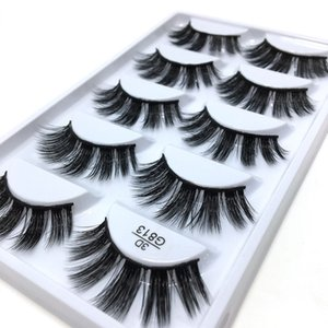 3D Stereotypes False Eyelashes Five-Pack Natural Thick False Eyelashes G813 Hand-Made False Eyelashes Artificial Wholesale