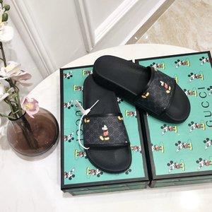 06 Frauen Hausschuhe Mode Sandalen Cartoon-Maus Sommer Anti-Rutsch-Scuffs Lederfrauenstrandschuhe klassische Flip-Flops Großhandel hohe Qualität