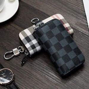 Luxus-Designer Keychain Presbyopic Car Key Case Plaid Universal-Schlüsselanhänger-große Kapazitäts-Männer und Frauen Schlüsseletui Multi-Funktions-Geldbörse