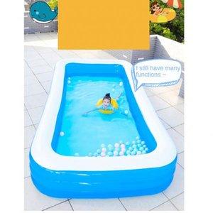 1pc piscina inflável Piscina Family portátil inflável ao ar livre para crianças Varandas Terraços