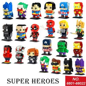 STOK DECOOL Sevimli Bebek 6801 6822 18002 süper kahramanlar hayret Avengers örümcek rakamlar Yapı Taşı Mini tuğlaları Oyuncaklar