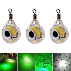 portas Entretenimento elenxs Mini Lure Luz LED Submarina Deep Drop Eye Forma Pesca Squid Pesca Bait Luminous Lure para atrair ...