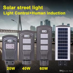 LED-Solarstraßenlaterne 60W 40W 20W (Radar Sensor + Lichtschranke Sensor) Led Steet Beleuchtung Wasserdichte Outdoor-Led-Lampen