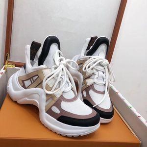2019 chaussures de luxe Designer VNR knit Casual femmes hommes Sneakers en cuir véritable ridée en peau de mouton Arena lacets de luxe formateurs zheng190419