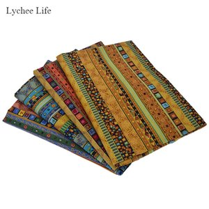 Lychee Life African Style Cotton Linen Fabric DIY Handmade Textile Sewing Patchwork Garment Craft Accessories For Unisex