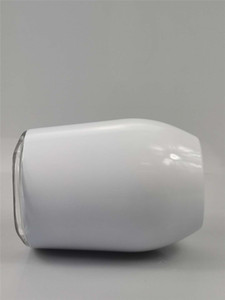 12oz Paslanmaz Çelik Şarap Tumbler için DIY Sublime Vakum Bardaklar Yumurta Kapak A05 ile Kahve Kupa Termal Transfer Özelleştir Şeklinde