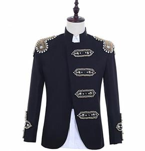 Crazy promoção lantejoulas Pretas blazer homens ternos projetos jaqueta mens cantores de palco roupas de dança estilo estrela vestido do punk masculino homme