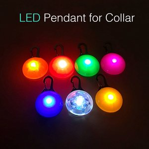 Pendant For Dogs Led Cat Dog Collar Leads Lights Glowing Pendant Pet Luminous Bright Glowing Collar For Dogs No Button Battery
