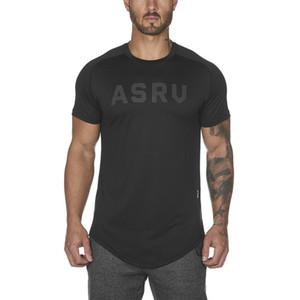2019 de fitness lobo verão dos homens trabalhar fora t-shirt com manga curta carta impressão homem ginásio estilo respirável estiramento camiseta 3xl y19060601
