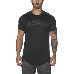 2019 Fitness Wolf Summer Men 's Work Out T-shirt con letra de manga corta hombre impresión estilo gimnasio transpirable estiramiento camiseta 3xl Y19060601