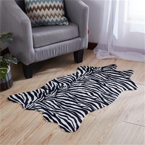 Vaca linda Modelo manchado de dormitorio almohadilla de alfombras caballo impresión de la raya Irregularidad Mat para el dormitorio diseño divertido del otoño 26xy H1