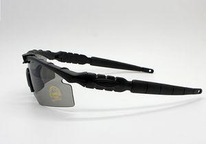 Toptan-2019 2.0 3 lens Kamuflaj Bisiklet Çekim Gözlük UV400 Taktik Güneş Erkekler Ordu BALLISTİK Kurşun geçirmez Gözlük