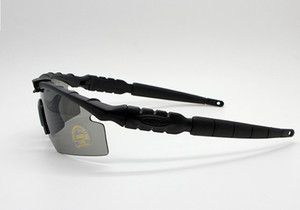 Wholesale-2019 2.0 3 Objektiv Camouflage Radfahren Shooting Glasses UV400 Tactical Sonnenbrille Men Army BALLISTIC kugelsichere Brille