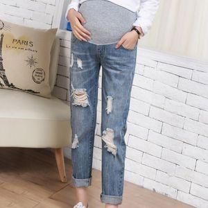 Hamile Giyim Elastik Yumuşak Annelik Jeans Skinny Gebelik Pantolon Güzel Pantolon Hamile Kadınlar Giyim Ripped Jeans