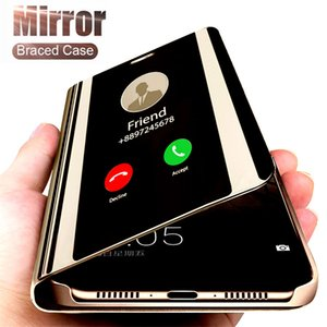 Inteligente Espelho de couro capa para OnePlus 7T Pro Luxo Limpar Phone Case Para OnePlus 7 7Pro 6T 6