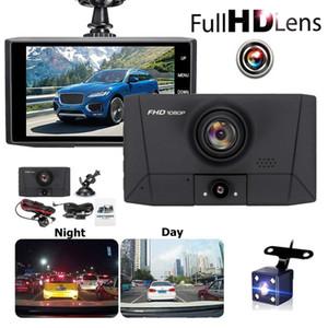 4,0 pouces 3 caméras Objectif voiture enregistreur vidéo caméra Dash caméra de recul Miroir HD 1080P DASHCAM voiture DVR