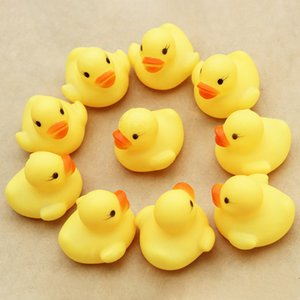10pcs / серия мини младенца Дети Squeaky Rubber Ducks Ванна Игрушки Купайтесь номер Вода Fun Поиграть Новорожденных мальчиков девочек Игрушки для детей