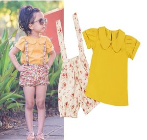 Fashion Kids Clothes Summer Girls Set 2PCS Girls Shirt and Shorts Set Cute Children