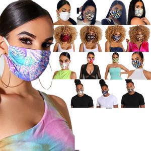 Le donne Funny Face Mask uomini riutilizzabile Cartoon Stampa Festive Mask ultravioletta a prova lavabile esecuzione maschere bici di guida del partito DHA125