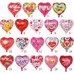 День Святого Валентина шар Надувной Heart Shaped шары I Love You алюминиевый шар для вечеринок 18 дюймов 19 Designs Факультативные