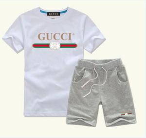Bebê infantil Suit Vestuário para meninos e meninas Esportes das crianças manga curta Roupas Crianças Set