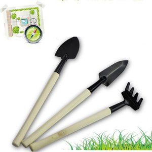 Free Shipping New Mini Shovel Rake 3 pieces Suits Home Gardening Tool Set Potted plants Garden Tools Combination