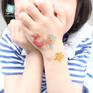 Kids Tattoo Merry Christmas mermaid Tattoo Stickers Cartoon watches Body Tattoo Happy New Year Fake Tatoo Childs Makeup Taty